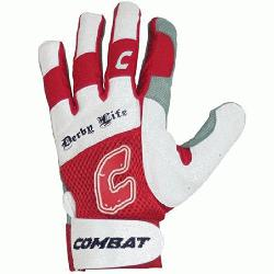Youth Batting Gloves Pair Red XL  Derby Life Ul