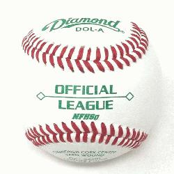 cket with 30 DOL-A Offical League Baseballs Shipped. Leather cover. Cushioned cork