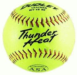 t 12 ASA Fastpitch Softballs Leather Cover COR 47 Co