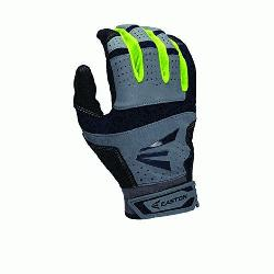 Neon Batting Gloves Adult 1 Pair Grey-Red Medium  Textured Sheepskin offers a great soft feel combi