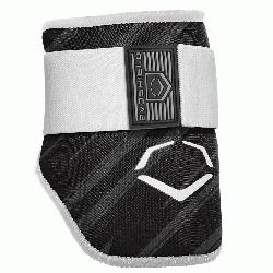 protective batters Elbow guard features a redesigned covering offering a durable surfac