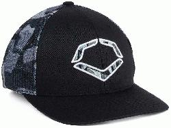 n structured fit Embroidered EvoShield logo on front Flex-fit band
