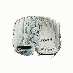nfield glove Dual post web Memory foam wrist lining White and Aqua blue Female-speci