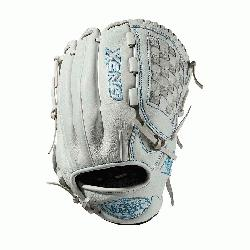 eld glove Closed weave web Memory foam wrist lining White and Aqua bl