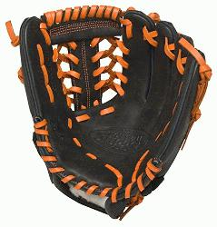 e Slugger HD9 11.5 inch Baseball Glove Orange Left Hand Throw