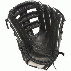 ille Slugger Pro Flare Black 12.75 in Baseball Glove Right Handed Throw  Louisville Slugger P