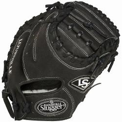 isville Slugger Pro Flare Black 32.5 inch Catchers Mitt Right Ha