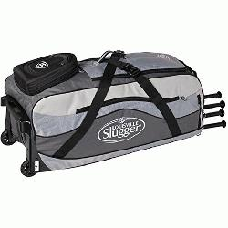he Louisville Slugger Series 9 Ton Team wheeled bag features High Rise Chassis