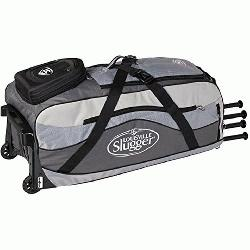 le Slugger Series 9 Ton Team wheeled bag features High Rise Chassis built to handle all terr