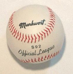 rkwort S92 Official League Baseball 1 each  Markwort Official Baseball with Syn-Tan c