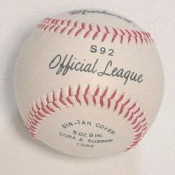 icial League Baseball 1 each  Markwort Official Baseball with Syn-Tan cove