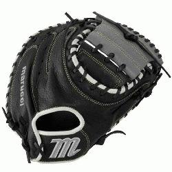 rucciA Oxbow Series 33.5 Inch Catchers Mitt features a full-grain cowhide leather shell for du