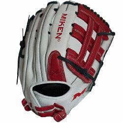 span>Miken Pro Series 13 slow pitch softball glove features soft full-grain le