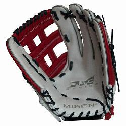 n>Miken Pro Series 13 slow pitch softball glove features soft full-grain leather w