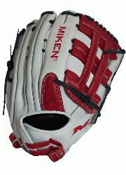 n>Miken Pro Series 14 slow pitch softball glove features soft full-grain lea