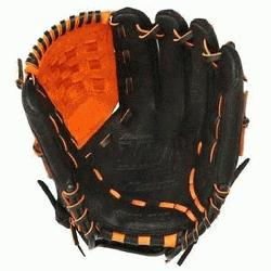 3 MVP Prime Baseball Glove 12 inch Black-Orange Right Hand Throw
