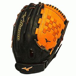 PSEF3 Fastpitch Softball Glove 13 inch Black-Orange Right Hand Throw  Patent pending H