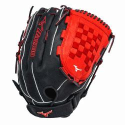 0PSES3 Slowpitch Softball Glove 14 inch Navy-Red Rig
