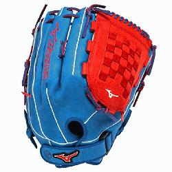 no GMVP1400PSES3 Slowpitch Softball Glove 14 inch Navy-Red Right Hand Throw  Pate