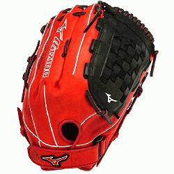 SES3 Slowpitch Softball Glove 14 inch Red-Black Right