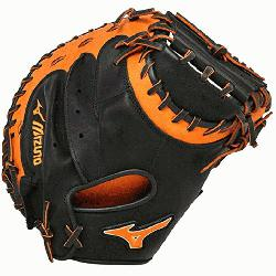 C50PSE3 Catchers Mitt 34 inch MVP Prime Black-Orange Right Hand Throw  Patent p