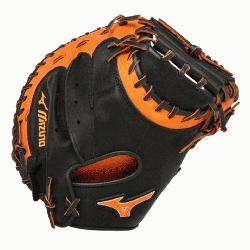 E3 Catchers Mitt 34 inch MVP Prime Black-Orange Right Hand Throw  Patent