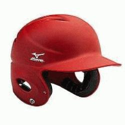 h Mizuno Batting Helmet NoCSAE Certified Strategically placed ventilation holes durable ABS p