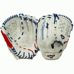 E 12.50 Inch Fastpitch Softball Fielders Mitt SilverRed Right Handed Throw  The Mizuno GM