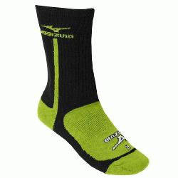 no Performance Highlighter Crew Sock BlackLemon Small  The Mizuno performance highlig