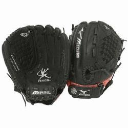 he Mizuno GPP1154 is a 11.50-Inch youth fastpitch glove that features mult