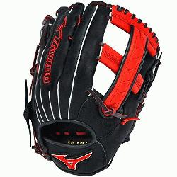MVP1250PSES3 Softball Glove 12.5 inch Black-Orange Right Hand Throw  Patent pending Heel Flex Tech