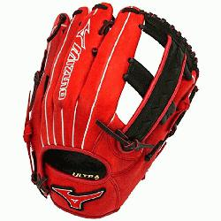 MVP1250PSES3 Softball Glove 12.5 inch Red-Black Right Hand Throw  Patent pending Heel Flex Technolo