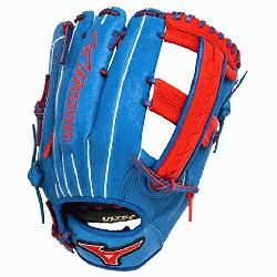 zuno Slowpitch GMVP1250PSES3 Softball Glove 12.5 inch Royal-Red Right Hand Throw  Patent pending He