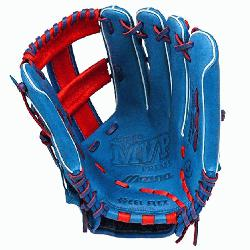 h GMVP1250PSES3 Softball Glove 12.5 inch Royal-Red