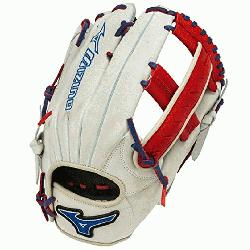 GMVP1250PSES3 Softball Glove 12.5 inch Silver-Red-Royal Right Hand Throw  Patent pending Heel Fle