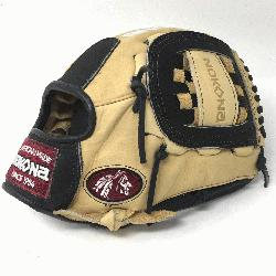 Adult Glove made of American Bison and Supersoft Steerhide leather combined in black and