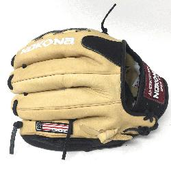 dult Glove made of American Bison and Supersoft Steerhide leather combined in black and cre