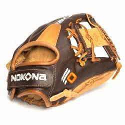 Select youth performance series gloves from Nokona are made with top-of-the-line leathers;