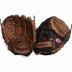 Fastpitch Black Buckaroo Softball Glove. Closed Web and