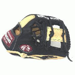 Adult Glove made of American Bison and Supersoft Steerhide leather combined in black
