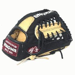 oung Adult Glove made of American Bison and Supersoft Steerhide leather combined in bla