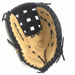 ult Glove made of American Bison and Supersoft Steerhide leather combined in black and cream color