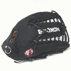 Adult Glove made of American Bison and Supersoft Steerhide leather combined in black and crea