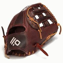 H Web with Open Back. 11.75 Infield Pattern Kangaroo Leather Shell - Com