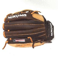 um Buffalo and Steerhide Leather Nokona s Alpha Series L