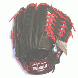 ssional steerhide baseball glove with red laces modified