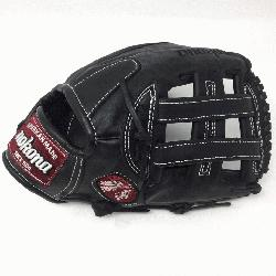 ona preminum steerhide black baseball glove with white