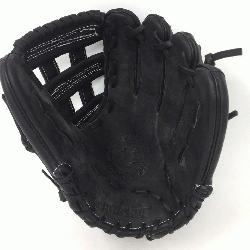 teerhide black baseball glove with white stitching and h