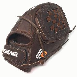 Pitch Softball Glove 12.5 inches Chocolate lace.