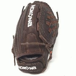 ch Softball Glove 12.5 inches Chocolate lace. Nokona Elite performance